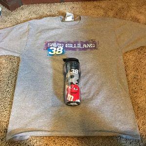 M&M's NASCAR Tee T-Shirt & Travel Mug Bundle
